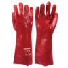 Gloves - Red PVC Gauntlets (One Size)