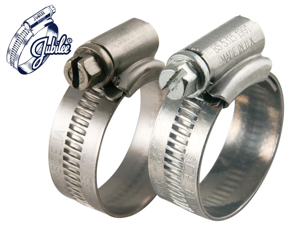01) Jubilee Clips - Size  OOO ( 9.5 - 12mm)